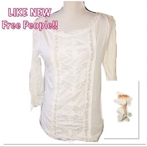 • FREE PEOPLE | LIKE NEW | Lace Blouse •